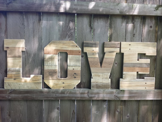 Wedding Decor, Pallet Love letters, Reclaimed Wood, Wooden letters, pallet  letters, - Wedding Decor Pallet Love Letters Reclaimed Wood Wooden