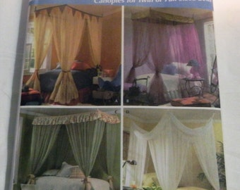 Canopy Bed Curtains Twin or Full size sewing pattern Simplicity 4532 UNCUT FF