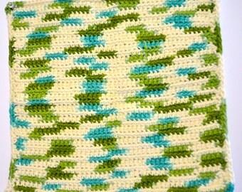 100% Cotton Hand Crochet Emerald Isle Wash Cloth