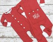 Childrens Christmas pajamas, Xmas pjs, Drop seat pjs, Trap door pjs, 1 piece Christmas pjs, Long john pjs