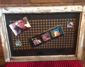 Salvaged Window Made into Rustic Magnet Board