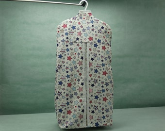 Star designed nappy/diaper stacker in red, white and blue