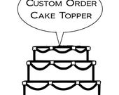 Custom cake topper for  Jeannie