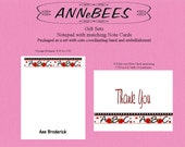 ABC Personalized Teacher Notepad with matching Note Card Gift Set