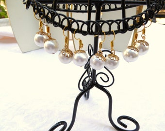 Pearl Earrings / women's jewelry /  LISTING for 1 PAIR / teen jewelry / girls / wedding / faux / jewelry / women / pierced earrings