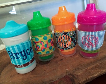 Sippy Cup Labels/Grab Bag of Six Sippy Bandz/Baby Gift