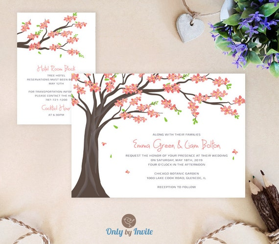 Tree Wedding Invitation And Enclosure Card: By OnlybyInvite