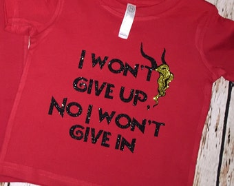 Gazelle i wont give up try everything shirt
