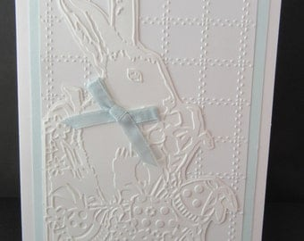 Easter Card with Embossed Bunny