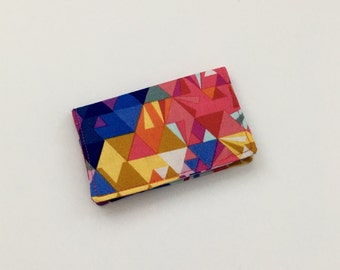 Geometric Business Card Case, Colorful Card Holder, Business Card Case, Credit Card Holder, ID Case, Gift Card Holder