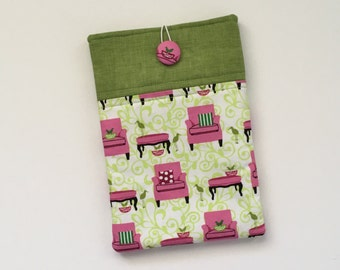 Green iPad Mini Cover / Kindle HD Cover, Tablet Sleeve, E-Reader Case