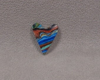 RAINBOW CALSILICA Heart Shaped Cabochon