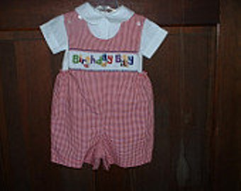 Made To Order Birthday Boy's Longall Size 12 month-6T