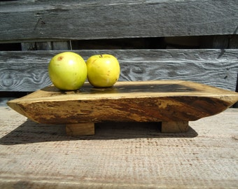 Small spalted maple wood table - Natural edge table - Office decor - Gifts for him - Desk decor - Wood working - Spalted Maple -  Rustic art