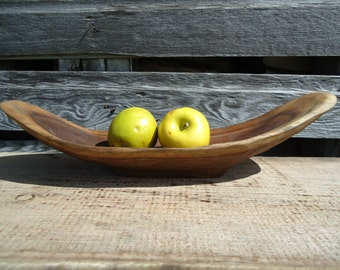 Black walnut bowl - Gifts for him - Hand carved wood bowl - Wood bowl - Banana bowl - Fruit bowl - Table decor - Wooden bowl - Dark wood