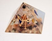 Orgone Chakra Pyramid With Archangel Symbols Reduced Price!