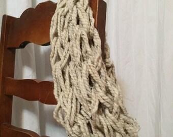 Knit Chunky Cowl - Wheat