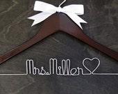 Bridal Shower Hanger, Shower Gift, Wedding Name Hanger, Wedding Hanger, Bridesmaid Hanger, Bridal Hanger, Wedding Gown Hanger, Wedding
