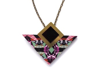 Geometric Necklace - Triangle Necklace - Modern Necklace - Triangle Pendant - Gifts For Her - Fashion Necklace - Gifts For Friend