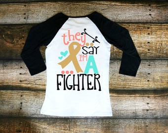 They say I'm a fighter - Cancer Awareness - Breast Cancer - Raglan