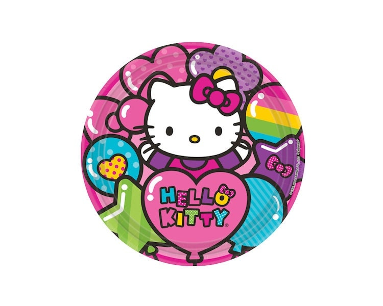 hello kitty paper plates Shop for hello kitty plates on etsy, the place to express your creativity through the buying and selling of handmade and vintage goods.