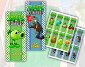 Plants vs Zombies Bookmarks Printable