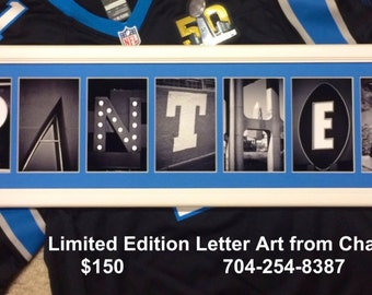 Caolina Panthers Letter Art