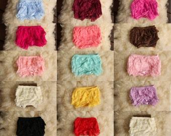 Ruffle Bloomer, Tutu, Couture, Diaper Cover, newborn photography prop