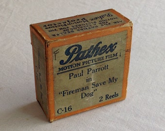 """Pathex Films C-16 """"Fireman Save My Dog""""  a Hal Roach 2 Reel Comedy, 9.5mm Silent Movie Starring Paul Parrot"""