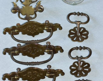 28 Miscellaneous Cabinet Drawer Pulls and Knobs, Unique Pulls, Vintage Knobs, Chic, Shabby, Repurposing Knobs