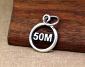 50 Mile Charm, 50 Mile Jewelry, Ultra Charm, Silver Charms, Running Jewelry, Running Charm, 50 Mile Race, Runner Charm, Gift for Runners