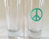 Peace Sign Shotglass
