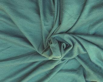 Modal Spandex 2x1 Rib Fabric by Yard - Pine Green 4 Way Stretch 7/16