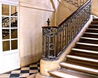 Place des Vosges staircase photo, stairs, fine art paris photography, b&w photography, travel photo, wall decor