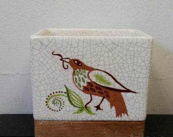 Stoneware Ceramic Bird Planter