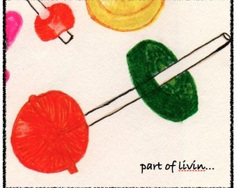 NEW! LIFESAVERS. Colorful and hand drawn notecard