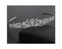 Wedding Tiara, Wedding Headband, Bridal Crystal Rhinestone Tiara, Bridal Tiara, Wedding Headpiece