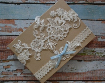Ivory Lace Wedding Garter, Something Blue Ivory Lace Wedding Garter Set, Ivory Floral Lace Bridal Garter Belt, Ivory Lace Bridal Garter Set