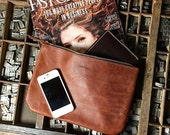 Large Leather Pouch - Pecan