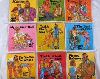 9 vintage 1985 Mr T and Me Books excellent condition