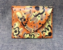 Hand Painted Leather Pouch