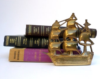 Brass Ship Bookends, Nautical Brass ,Nauticalia London , British Memorabilia,HMS Victory