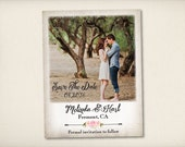 """Save The Date Magnet, Modern Boho Magnet, Wedding Save The Date, Floral Save The Date Magnet, 4.25"""" x 5.5"""" Photo Magnets (CleaverLand))"""