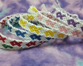 awareness bracelets, string friendship bracelets, ribbon bracelet, breast cancer awareness, cancer gifts, aids, lupus, epilepsy, suicide