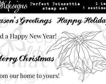 Perfect Poinsettia Digital Stamp Set