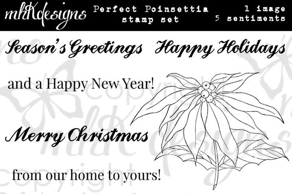 Perfect Poinsettia Digital Stamp Set