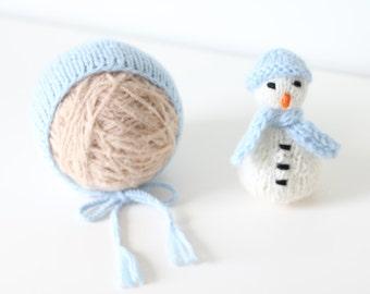Newborn christmas - Baby boy hat - Photo prop hat - Slouchy hat - Knitted hat - Baby boy props - Newborn photo prop - Blue - Photo prop hat