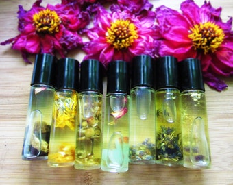 SALE moon/sabbat/zodiac aromatherapy perfumes | 5 mL or 1/3 oz roll on - infused in fatty oils for intimate & natural scents