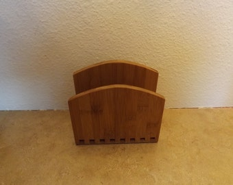Core Foldable Bamboo Letter or Napkin Holder