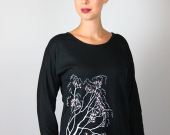 Gumspirational Hand Screen Printed Reversible Long Sleeve Top